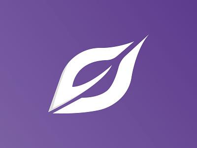 Power of Purple modern clean purple design minimal typography brand illustration icon vector brandauxin branding logo 3d ui