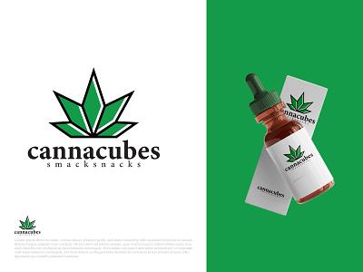 Cannabis Logo clean logo design minimal typography brand illustration vector icon brandauxin modern vape leaf cannabis graphic design