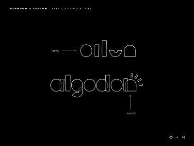 Algodon logo reference logotype market mark baby toy logo brands type inspiration goldenratio layout golden ratio design