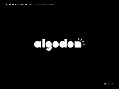 Algodon logo toy baby logos logotype logo typography brands type inspiration goldenratio layout golden ratio design