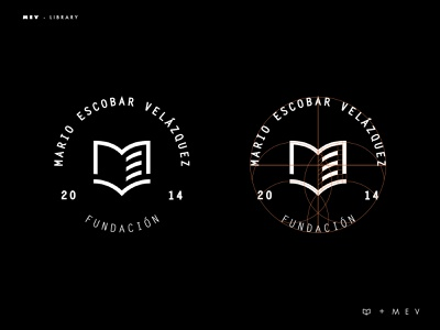 MEV library logo branding logotype logo typography brands type layout golden ratio design