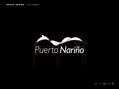 Puerto Nariño logo grid logodesign logotype logo inspiration brands type goldenratio layout golden ratio design