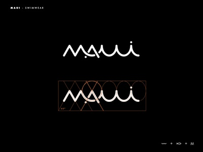 Maui logo branding logotype logo typography inspiration brands type goldenratio layout golden ratio design