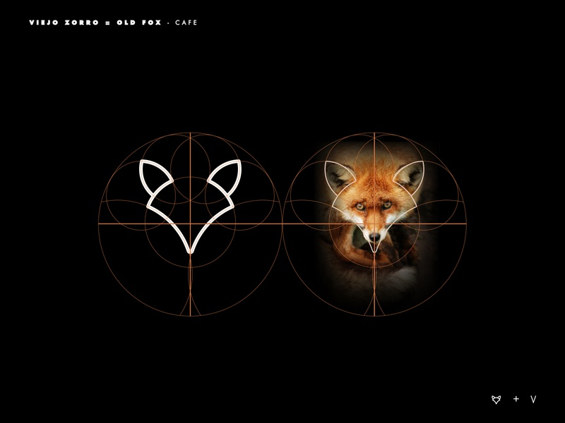 Old Fox logo grid branding logotype logo inspiration brands type goldenratio layout golden ratio design