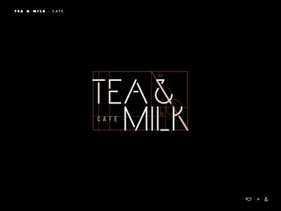 Tea & Milk logo grid branding typography logotype logo inspiration brands type goldenratio layout golden ratio design