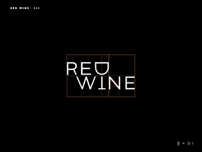 Red Wine logo grid branding typography logotype logo inspiration brands type goldenratio layout golden ratio design
