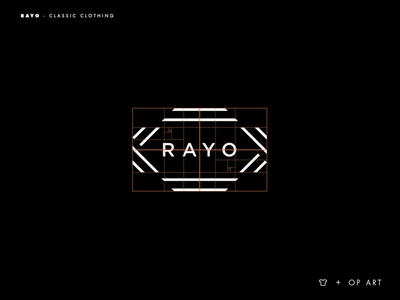 Rayo logo grid branding typography logotype logo inspiration brands type goldenratio layout golden ratio design