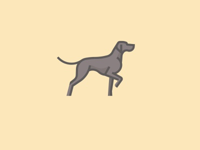 Weimaraner typography logotype logo inspiration brands type goldenratio layout golden ratio design