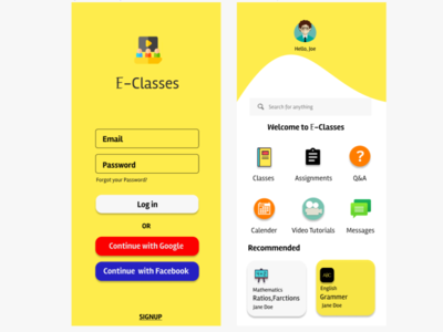 Online Classes app design mobile ui ui onlineclasses videotutorial education app