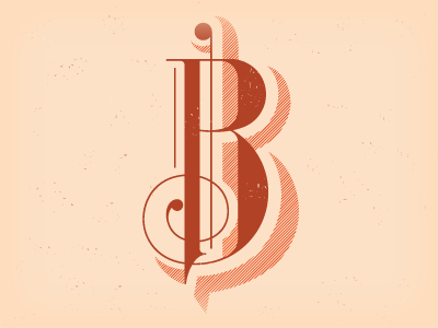 Dribbble 007 typography hand-lettering decorative linear shadow