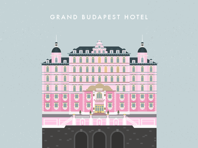 Dribbble 020 illustration hotel grand budapest hotel building wes anderson architecture fanboy