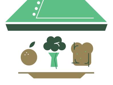 Dribbble 009 broccoli illustration editorial