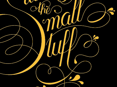 Dribbble 004 typography hand-lettering poster