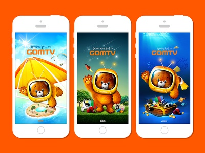 gomtv app character splash screen splash bear gomtv app gom