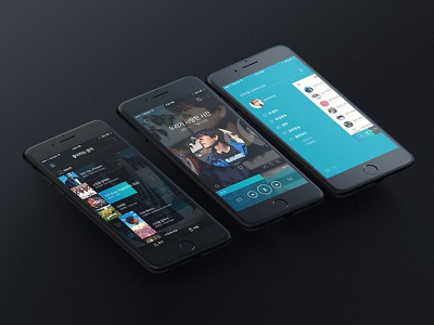 GOM AUDIO PLAYER APP DESIGN gom circle app music audio