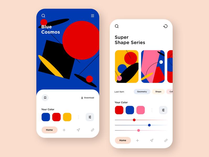 02. Modern Art Poster App dailyui drawing colorfull poster art modern ui screen mobile app