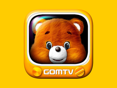GOMTV icon animal bear icon music cinema contents movie media tv television gomtv gom