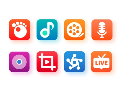 GOM Product icon video cinema movie music song audio gui icon platform contents commerce media television tv gomtv gom
