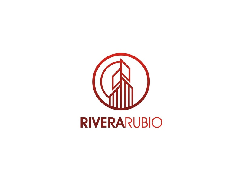 RIVERA RUBIO logo management living family home house property business real estate