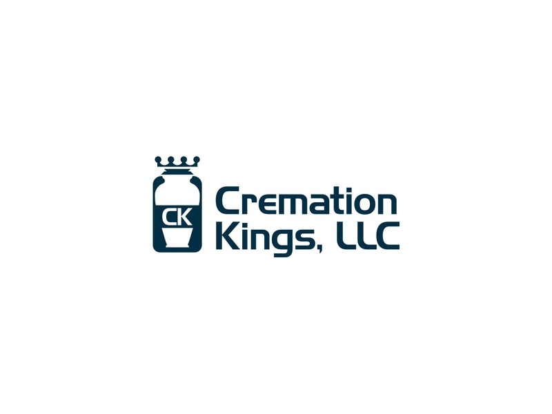 CREMATION KING modern crown king cremation business branding