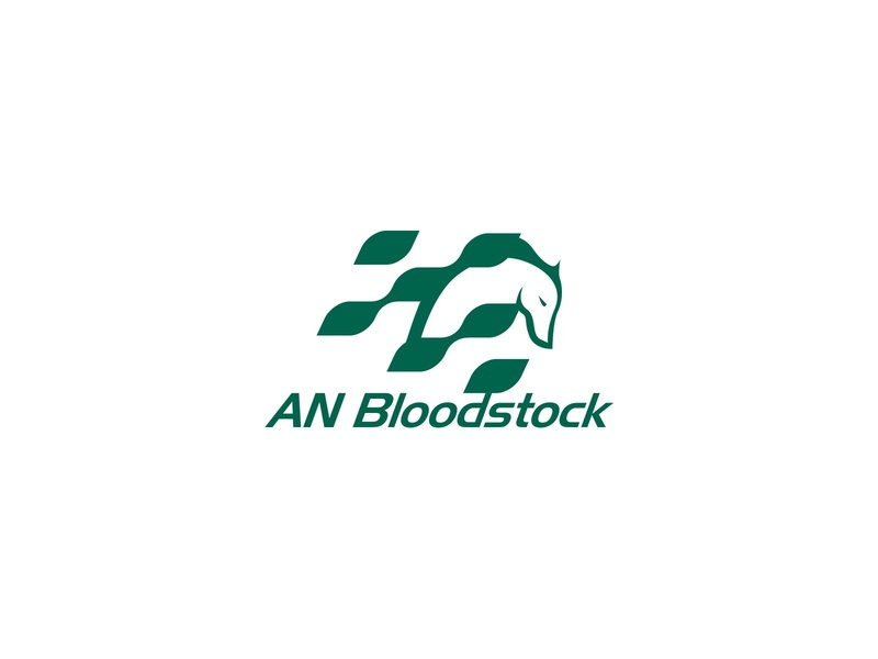 AN BLOODSTOCK logo sport competition racing race horse animal