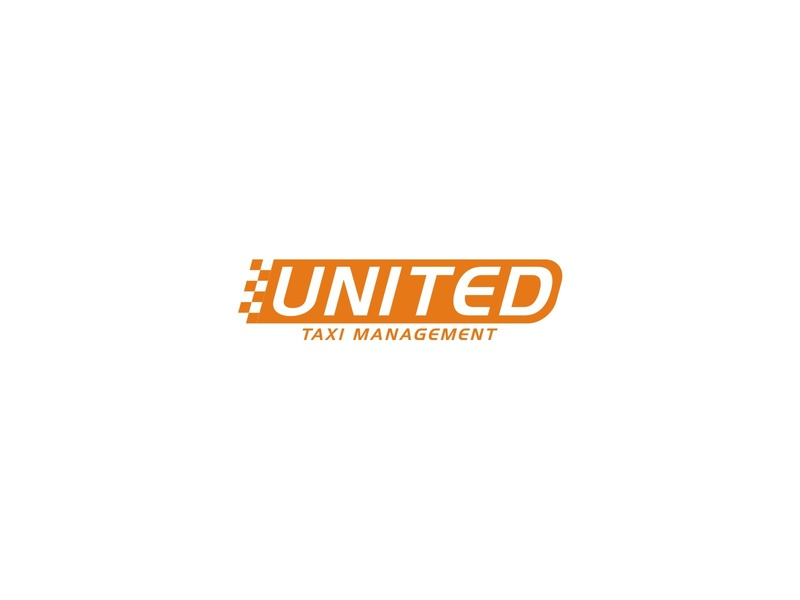 REBRANDING UNITED TAXI MANAGEMENT car transportation transport business company taxi simple modern logo concept rebranding branding