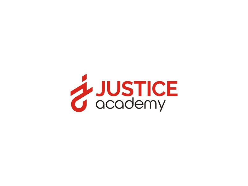 JUSTICE ACADEMY modern branding logo academy institution learning learn student study school university education