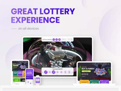Ideal lottery concept ui design mobil design protopie figma tv app mobile ui interface mito minimal mockup devices clean ui clean