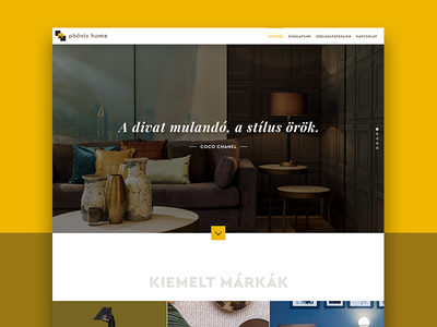 PhonixHome Website redesign decor home yellow clean minimal flat redesign website webshop