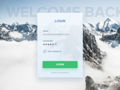 Dailyui #001 Login dailyui login daily-001 ui form sketch sign in sign up