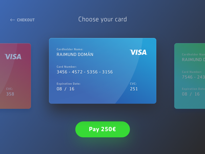 Dailyui #002 Chekout blue debit card credit card sketch checkout daily ui
