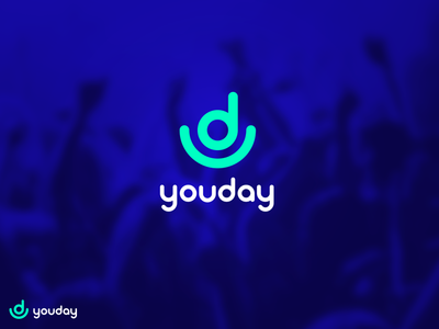 Youday logo identity festival young neon blue logo ud youday