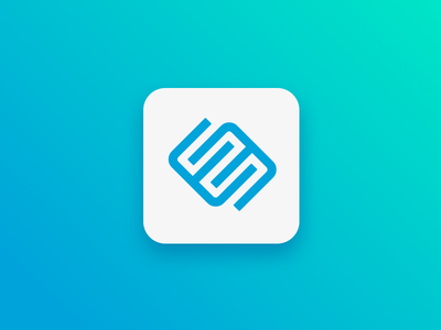 DailyUi 005 App Icon labyrinth minimal neon blue green madeworks app icon