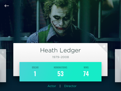 Dailyui 006 User Profile actor green card daily ui daily user profile heath ledger