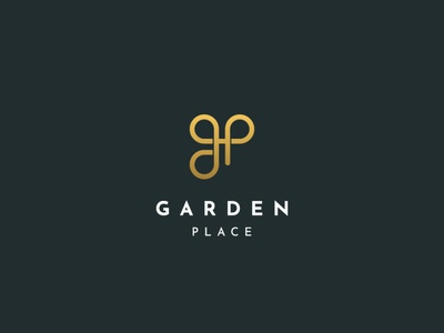Garden Place Logo brand identity corporate branding minimalist logo logodesign logo logos