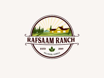 Rafsaam Ranch Vintage Logo agriculture logo brand design vintagelogo logo
