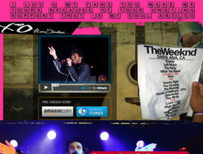 06 19 14  The WEEKND Free Song   Email SIgn Up website banners stellar interactive design branding illustration social media branding digital media flyer global artist management music promotion the weeknd