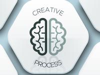 "Creative Process x Lucky Seven Pt Play ""Hmm?"" creative logo creativity brain games deep dive startup logo creative process design"