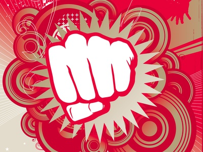 BOOM_ Take That Red Dread. PUNCH ME IN Retro Scotty! banners vector branding design redbubble money courage boom illustration graphic design retro logo dribbble best shot red