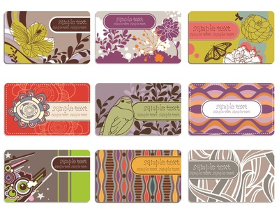 Beautiful Business Cards, Hand Crafted Concepts, Pretty Colors wallpaper decorative nature illustration flower illustration envato dribbble best shot amazing label biz card branding banners design illustration illustration art graphic business card design nature design