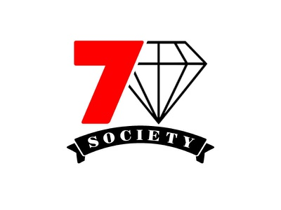 """Re-Brand for """"7 Diamond Society"""" Ultra Hi-Net Ind. Pvt. Equity custom logo design typography illustration private equity fund diamonds and pearls fine art red red wine free logo download memorable logo classic design black logo red branding logo graphic design"""