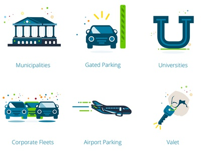 Parking Illustrations personality fun parking illustrations