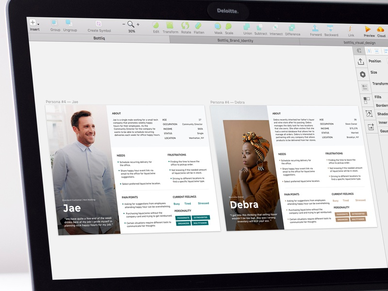 Personas - In Progress product persona uiux ui mvp research sketch freelance liquor personas
