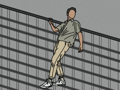 Minimalist Hanging Man