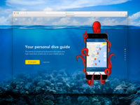 Landing page for diving app