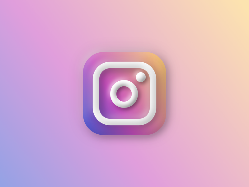 Instagram Icon Big Sur macos bevel 3d big sur sur big instagram icon logo mark branding design affinitydesigner affinity