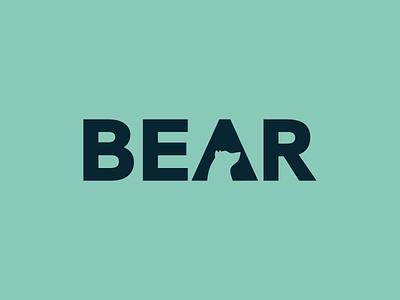 Bear logo animal bear typography branding vector affinitydesigner affinity