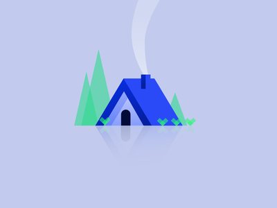 Cozy Cabin cozy cottage cabin illustration vector affinitydesigner affinity