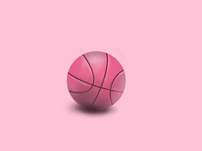 Balllin' dribble ball sports design brushes pink illustration dribbble basketball procreate