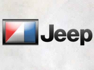Amc Logo jeep red texture blue